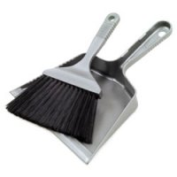 Small Dust Pan and Brush, Grey