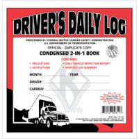 Personalized 2-In-1 Driver's Daily Log Book with Simplified DVIR - Duplicate Carbon