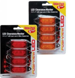 "1-3/4 ""x 1\"" LED Clearance/Marker Lights Value Pack 4 Pack"