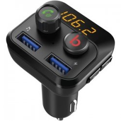 Bluetooth FM Transmitter With Dual USB Ports And Knobs