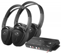 2-Channel RF 900MHz Wireless Headphones with Transmitter - 2 Pair