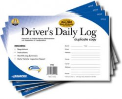 Pack of 4 - Driver\'s Daily Log Book with 31 Duplicate Sets (Carbon)