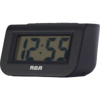 Battery Powered Alarm Clock 1-inch LCD with Blue Backlight