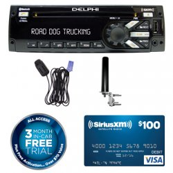 Heavy-Duty AM/FM/MP3/WMA/WB CD - SiriusXM Tuner and Bluetooth Package Deal