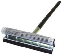 "8"" Metal Head Squeegee with Heavy Duty Sponge and 12"" Wood Handle"