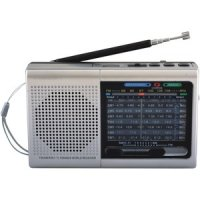 9-band Rechargeable Bluetooth Radio With USB/SD Card Input Silver