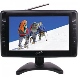 "Rechargeable 10"" Portable LCD TV AC/DC"
