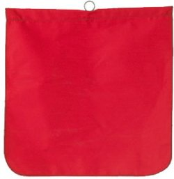 "18"" x 18\"" Warning Flag Solid Fabric w/Sewn in Wire Rod"
