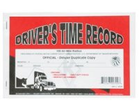Personalized Driver's Time Record Deluxe Duplicate Log Book (Carbon)