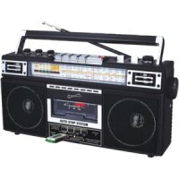 Retro 4-band Radio And Cassette Player With Bluetooth Black