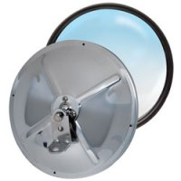 8.5 Stainless Steel Adjustable Convex Mirror - Center Stud