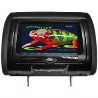 "7"" LCD Headrest Monitor in Headrest with built-in DVD Player"