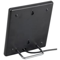 Sleek Indoor Digital Basic Flat Antenna with Amplifier and Coax Cable - Black