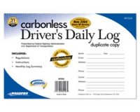 Carbonless Driver's Daily Log Book with 31 Duplicate Sets