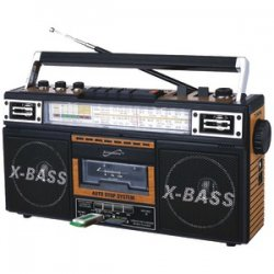 Retro 4-band Radio & Cassette Player Wood