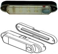 Interior LED Light - 12 Volt DC - Push Button On/Off