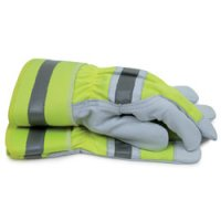 Hi-Visibility Goat Leather Work Gloves, Large