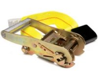 "2"" Fixed End Replacement Ratchet Strap with Flat Hook and Buckle"
