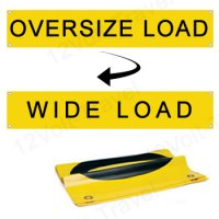 "14.25"" x 72"" (6') Oversize Load & Wide Load Reversible Banner with Grommets"