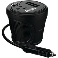 120 Watt DC to AC Power Inverter Fits in Cup Holder
