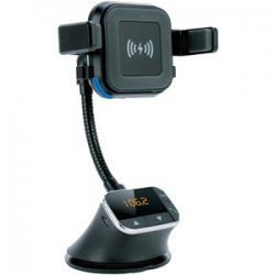 Bluetooth Qi Charging Mount And FM Transmitter