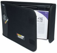 "Logbook Binder with Slide Rule - Black, 10.5"" x 7.5"""