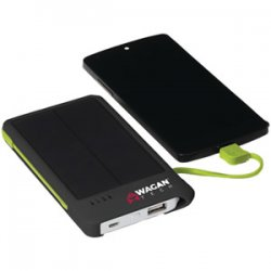 Portable Solar Cellphone Charger with Built-In 4200mah Battery