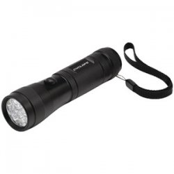Aluminum LED Flashlight with White, Red and Green LED\'s - 2PK