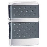 Brushed Chrome Finish Lighter with Black Zip Guard - Urban Series