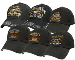 Second Amendment Support Gun Rights Ball Cap Hats