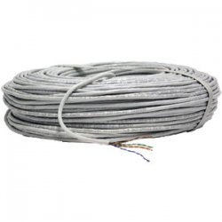24-gauge Cat-5e Cable 500ft White Jacket