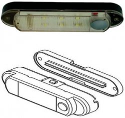 Interior LED Light - Battery Powered - Push Button On/Off