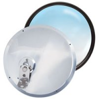 8.5 Stainless Steel Adjustable Convex Mirror - Offset Stud