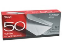 #10 White Envelopes - 50-Pack