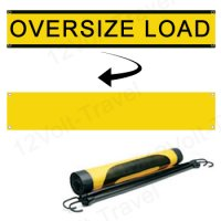 "18"" x 84"" Oversize Load Banner Nylon Mesh with Rubber Straps and Hooks"