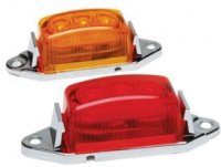 "1-3/4 ""x 1"" LED Clearance/Marker Light Single - Amber, Red"