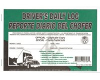 Personalized Driver's Daily Log Book with Duplicate Copies - English/Spanish