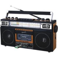 Retro 4-band Radio And Cassette Player With Bluetooth Wood