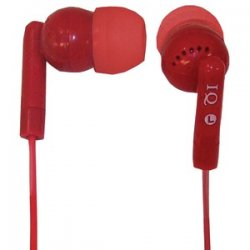 Porockz Stereo Earphones Red