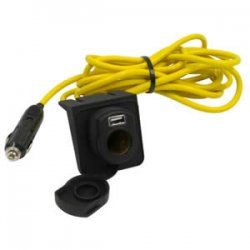 12-Foot 12V Extension Cord with USB Port