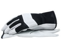 Split Cowhide Leather Gloves with Mesh Back - Large 1 Pair
