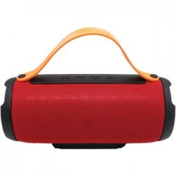 Bluetooth Portable Speaker With Built-in Strap Red