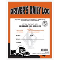 Personalized 5-In-1 Driver's Daily Log Book Duplicate Carbon