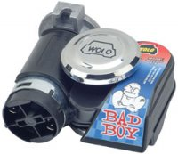 Model 419 Bad Boy 1-Piece Dual Tone Air Horn - 118 Decibels-530/680Hz