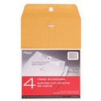 9 x 12 Brown Kraft Envelopes with Clasp - 4-Pack