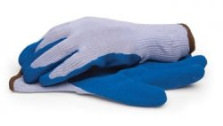 Latex Coated Palm & Fingertips Gloves with Elastic Knit Wrist, Large 2-Pack