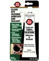 3oz. ProSeal Clear RTV 100% Silicone Adhesive and Sealant