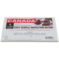 Personalized Canadian, Driver's Vehicle Inspection Report, Carbonless