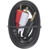 "Stereo Hook-Up Cable with 3.5mm Plug and ""Y"" Adapter RCA Plugs"
