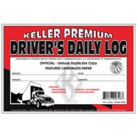 Personalized Duplicate Driver's Daily Log Book, Carbonless